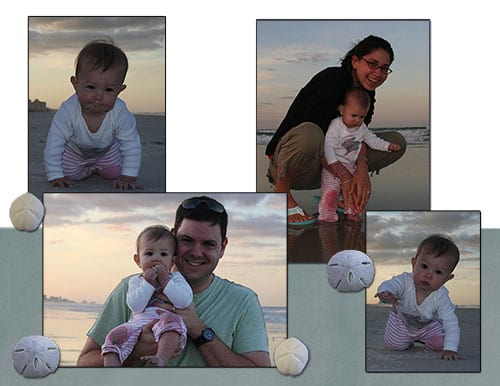 Beach Baby (left side of spread)