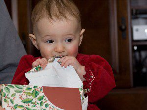 Genevieve gets a taste of Christmas