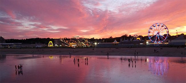 Old Orchard Beach Sunset from the bar at the end of the Pier